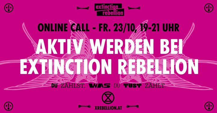 Aktiv werden bei Extinction Rebellion Österreich