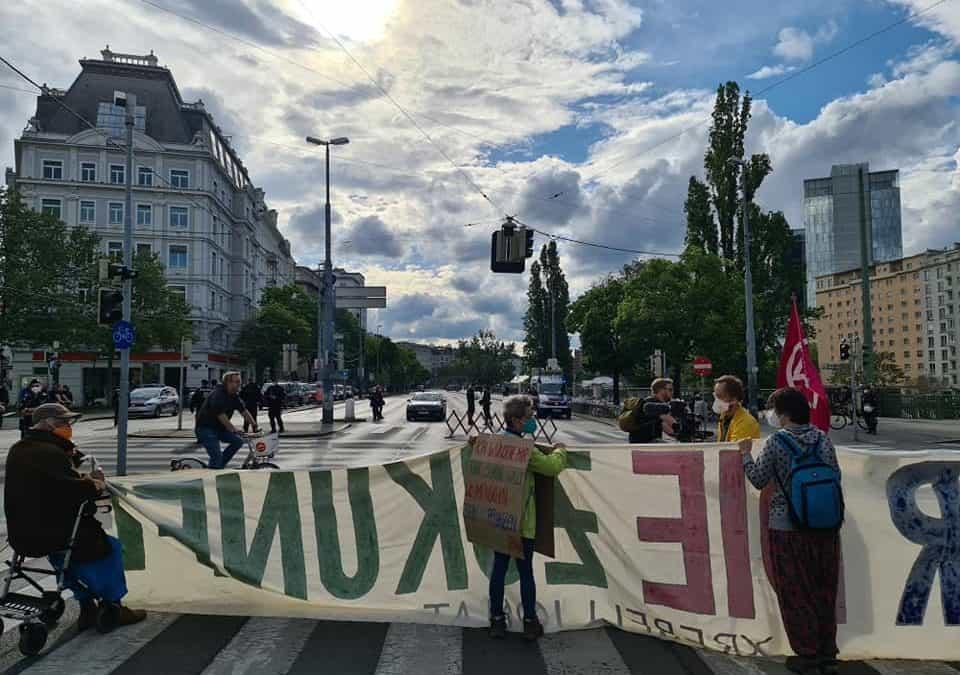 """""""Gegen die Kultur der Leugnung""""—Start der Rebellion der Tropfen in Wien"""
